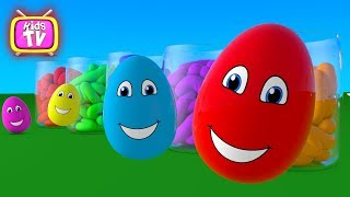 Learn colors. Learn funny Surprise eggs. Cartoons for children Video for kids