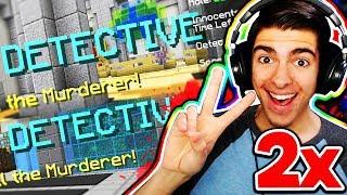 I GOT DETECTIVE TWICE IN A ROW! 🔍 (Minecraft Murder Mystery)