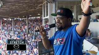 STL@CHC: Ice Cube leads 7th-inning stretch at Wrigley