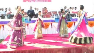 Karanpur Girls Svagat Geet At Kadi Nanabar samaj