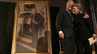 Hidden Blow Job Joke In Bill Clinton Portrait?