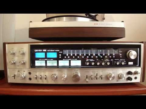 JAPANESE HI-FI VINTAGE RECEIVER SANSUI QRX-9001 & PHILIPS 212 MADE IN HOLLAND