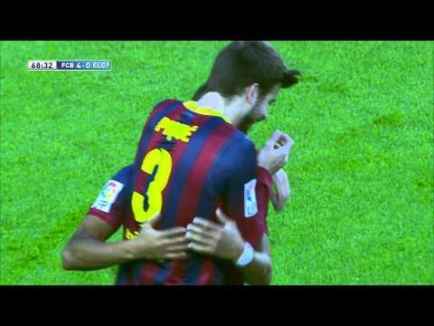 Gol de Alexis (4-0) en el FC Barcelona - Elche CF - HD