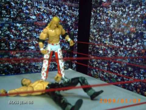 WWE Toys in Motion WTM HBK Shawn Michaels & Rey Mysterio vs Miz & Morrison Tag Team Title Match
