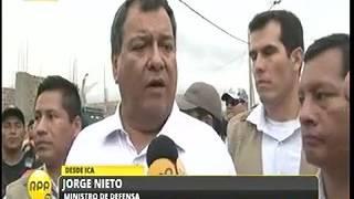 MINISTRO DE DEFENSA VISITA ICA SOBRE HUAYCO_25 ENE 17