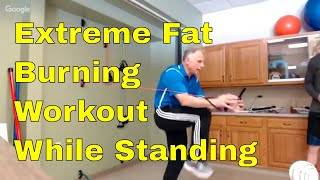 Extreme Fat Burning Workout in 10 Min. While Standing. Target Abs, Core & Balance.