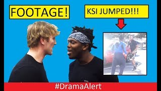 Logan Paul & KSI  FIGHT! #DramaAlert (FOOTAGE) KSI JUMPED! FaZe Rug vs Tanner FOX! Ninja Fortnite!