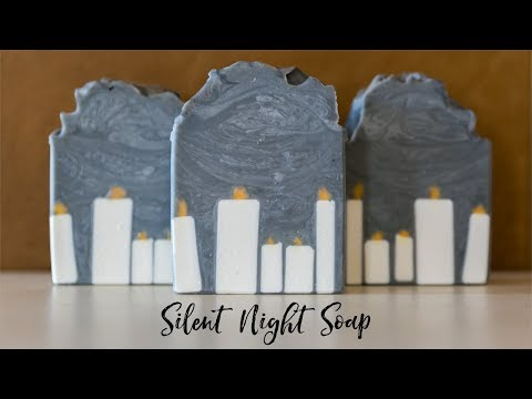 Silent Night Tricky Soap Design with Piped Embeds Royalty Soaps