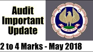 IMPORTANT UPDATE | Audit | For Both CA Inter/IPCC and Final | 🔥🔥🔥