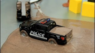 Toy Cars & Police Cars in the mud 60 minutes Compilation for kids