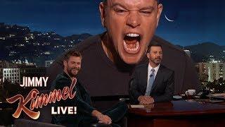 Matt Damon Ruins Chris Hemsworth Interview