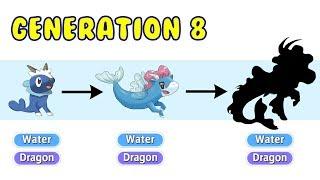 New Gen 8 Starter Dragon/Water Type Evolution | Pokemon Gen 8 Fanart #14