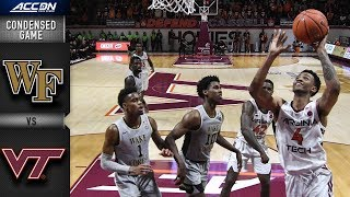 Wake Forest  vs. Virginia Tech Condensed Game   2018-19 ACC Basketball