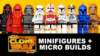 LEGO Star Wars: The Clone Wars KnockOff Minifigures + Micro-Builds Set 10 (DeCool)