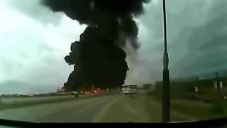 لحظة انفجار الطائرة الامريكيه لاحول ولا قوة الا بالله مشهد مرعب