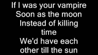 Marilyn Manson-If I was your Vampire (Lyrics)