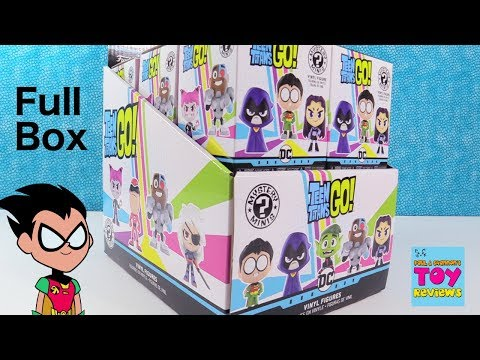 Teen Titans Go Funko Mystery Minis Full Box Unboxing PSToyReviews