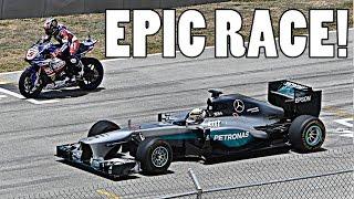 LEWIS HAMILTON: F1 CAR vs YAMAHA R1M SUPERBIKE!!