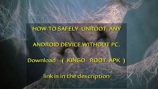 How to safely unroot any Android || safely remove root || how to root