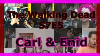 Reacciones del mundo: Carl besa a Enid - The Walking Dead 7x05