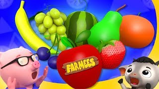 Five Little Fruits | Kindergarten Songs For Children
