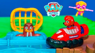 PAW PATROL Nickelodeon Skye and Zuma Roll Patrol Rescue New Toys Video