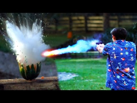 Shooting Watermelons with Exploding Sodium Bullets
