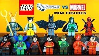 LEGO Marvel vs DC Superheroes KnockOff Minifigures w/ Batman Robin & Wolverine