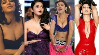 Shruthi Hassan hot bouncing cleavage compilation