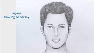 How to draw face for Beginners/ EASY WAY TO DRAW A MAN FACE