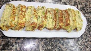 omelette au fromage اكلة في 5 دقائق إقتصادية كوجبة عشاء سريعة التحضير