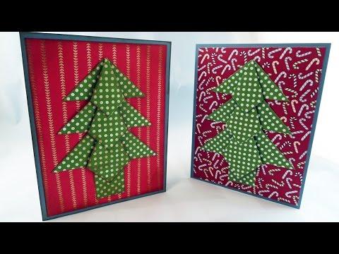 Origami Christmas Tree Card Tutorial
