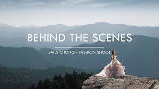 Behind the scenes of a fashion shoot with Sails Chong