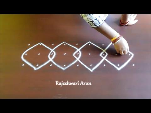 melika side border rangoli designs    simple sikku kolam designs    easy  muggulu side designs