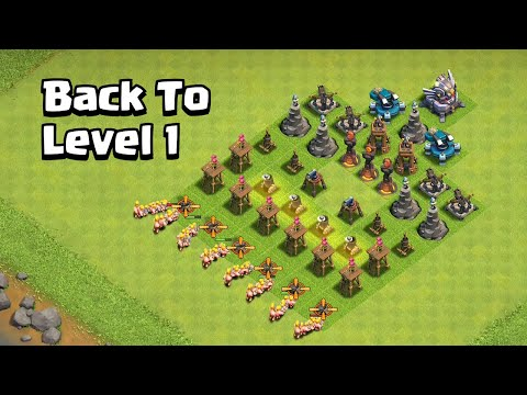 Level 1 Troops VS Level 1 Defense Formation Clash of Clans