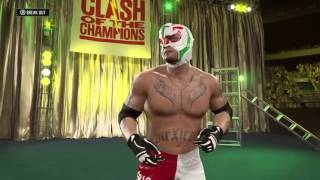 WWE 2K16 Jeff Hardy vs Rey Mysterio TABLES MATCH