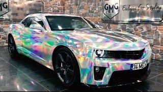 TÜRKİYE'DE İLK HOLOGRAM KAPLAMA UYGULAMASI (Camaro RS) GMG Garage Car Wrapping