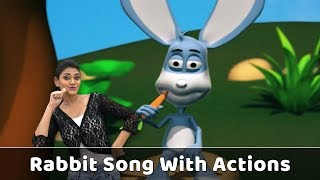 Rabbit Song For Babies | Rabbit Action Song | Rabbit Rhyme With Actions | Animal Songs For Kids