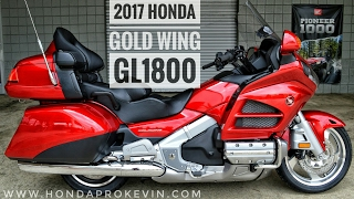 2017 Honda Gold Wing Walk-Around Video | Candy Red GL1800 Touring Motorcycle