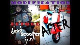 Bajaj Chetak Restoration (Modification)   From Junk Yard