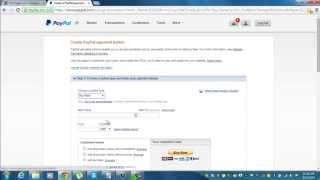 How To Create and Edit Paypal Buttons In Paypal 2014 Dashboard