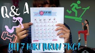 Q&A Cara Menurunkan/Diet Berat Badan 7kg Dalam 7 Hari? | Dinda Shafay (Bahasa)