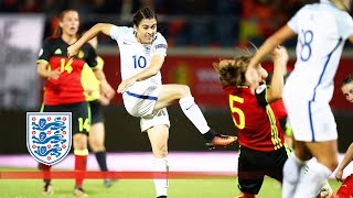 Belgium Women 0-2 England Women (Euro 2017 Qualifying) | Goals & Highlights