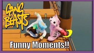 Gang Beasts! Funny Fights!! Karin Vs Sanyu