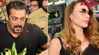 Salman & Iulia get irritated by fans at an Airport | Bollywood News