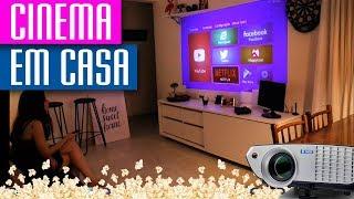 DIY Faça seu 📽 Cinema em casa TELA GIGANTE Novo Projetor Betec BT725+ 2200 Lumens