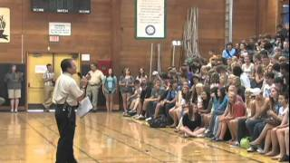 First-day assembly at Philomath High School