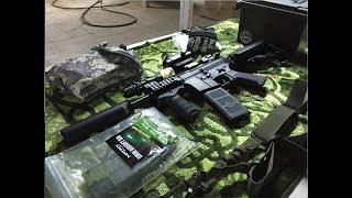 """M4 AEG in action -  """"M4"""" رشاش خرز"""
