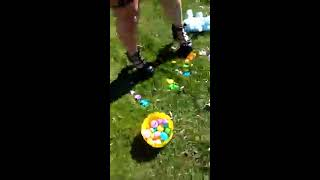 H Homicide crushing easter eggs and peeps