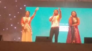 Khesari Lal Yadav , Kajal raghwani and Ritu Singh bhojpuri Star Night doha qatar 02/Dec/2016